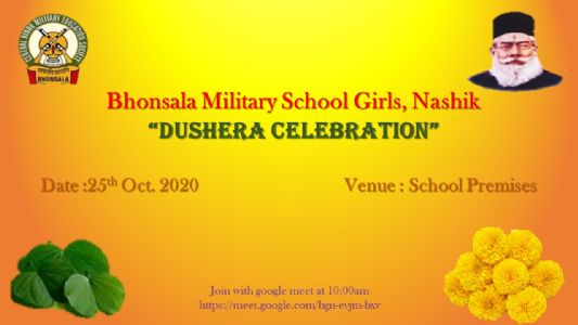 Bhonsala military School Girls Dushera  Celebration